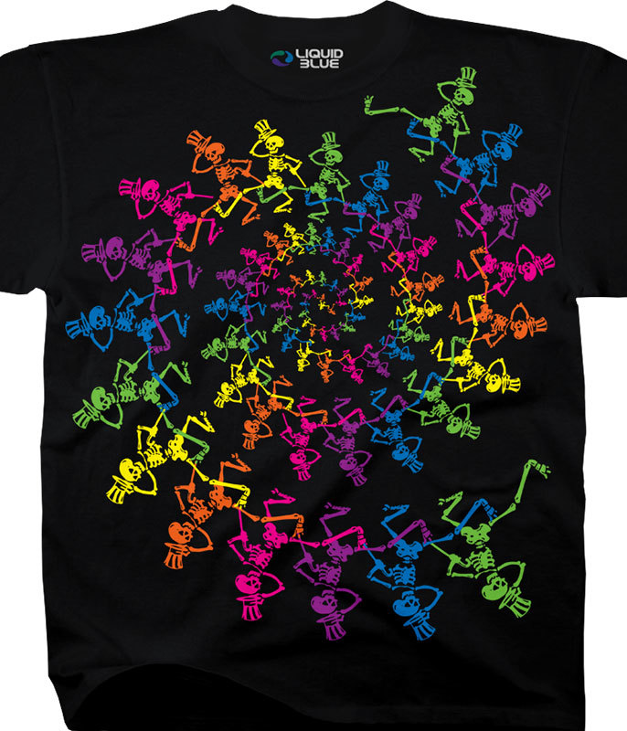 SPIRAL SKELETONES T-SHIRT