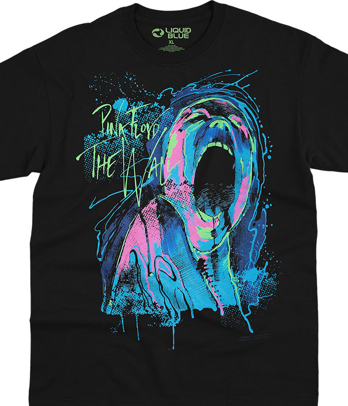 BLACKLIGHT SCREAMING FACE T-SHIRT