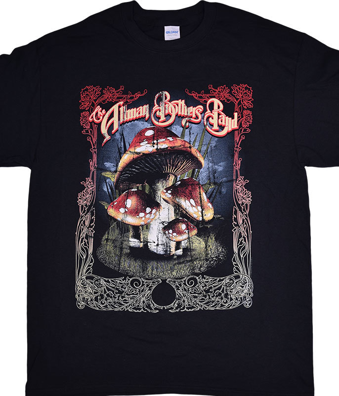 ABB MANY MUSHROOMS BLACK T-SHIRT
