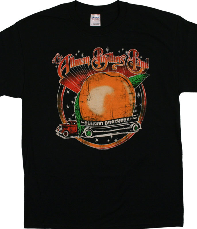 SPACE PEACH BLACK T-SHIRT