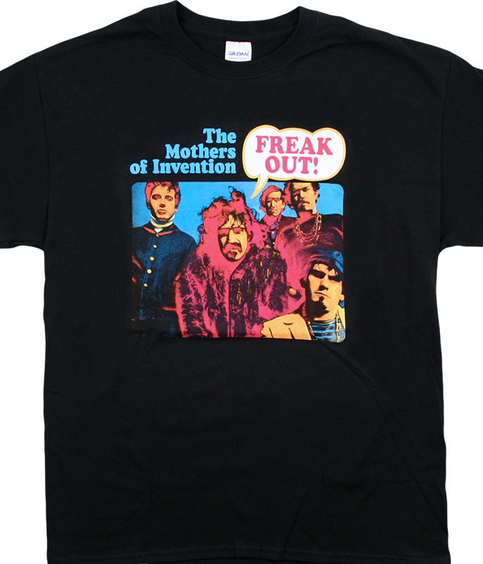 MOTHERS FREAK OUT BLACK T-SHIRT