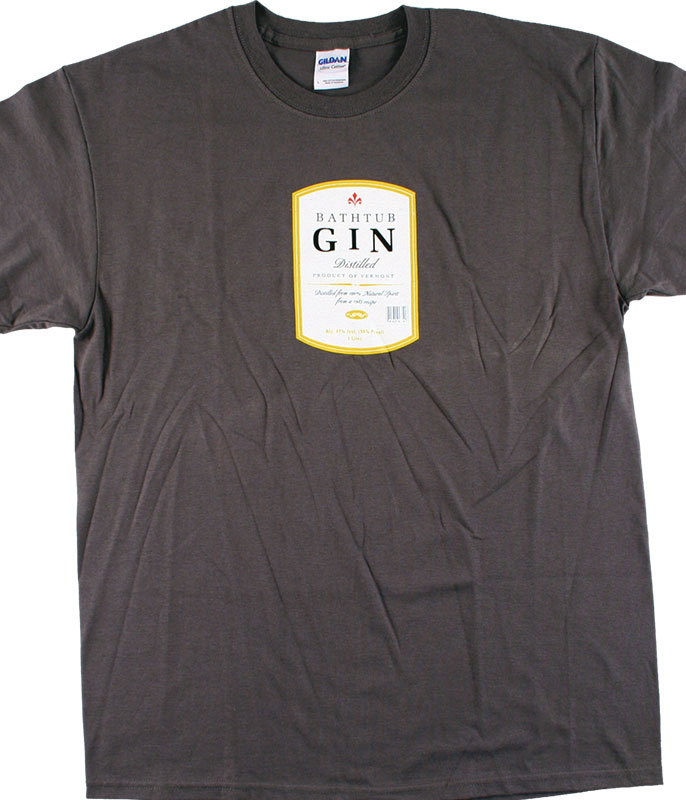 BATHTUB GIN GREY T-SHIRT